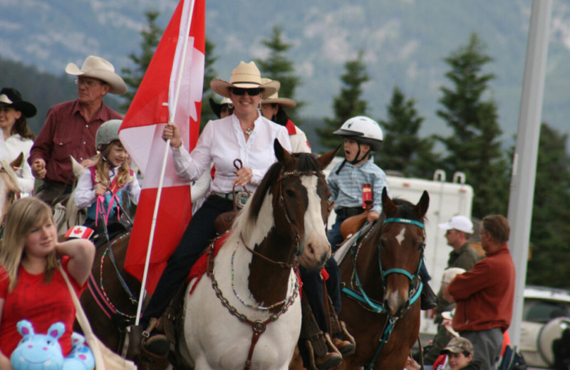 Parade at Mount Robson Inn.