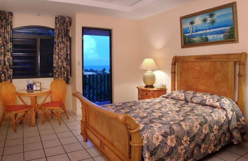 Guest room at The Fajardo Inn.
