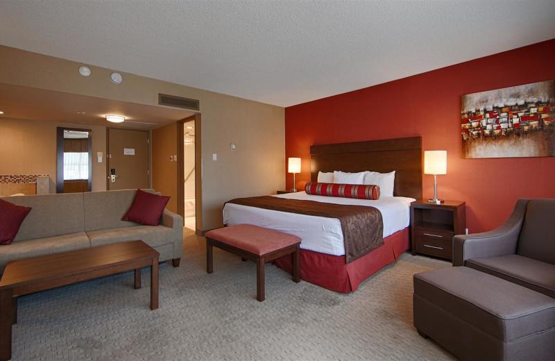 Guest room at Best Western Terrace Inn.