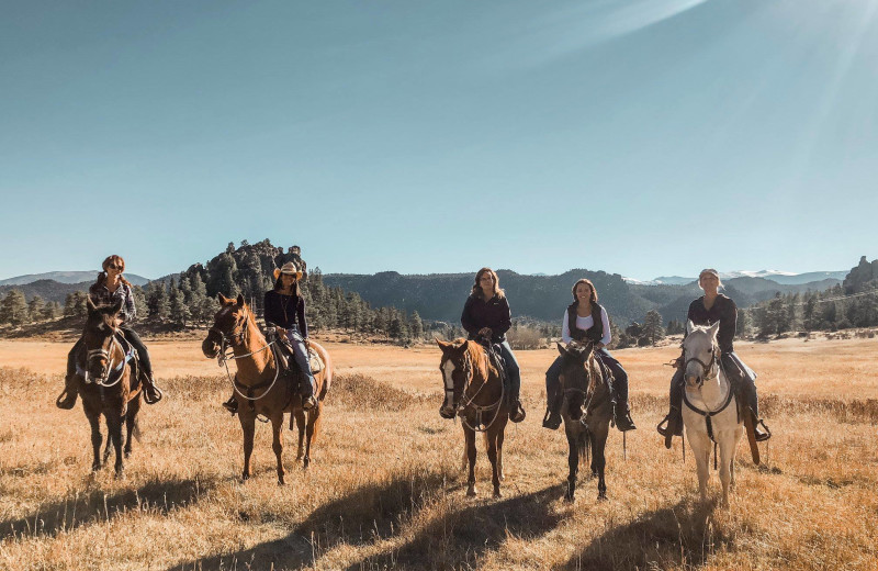 Horseback riding at Sundance Trail Guest Ranch.