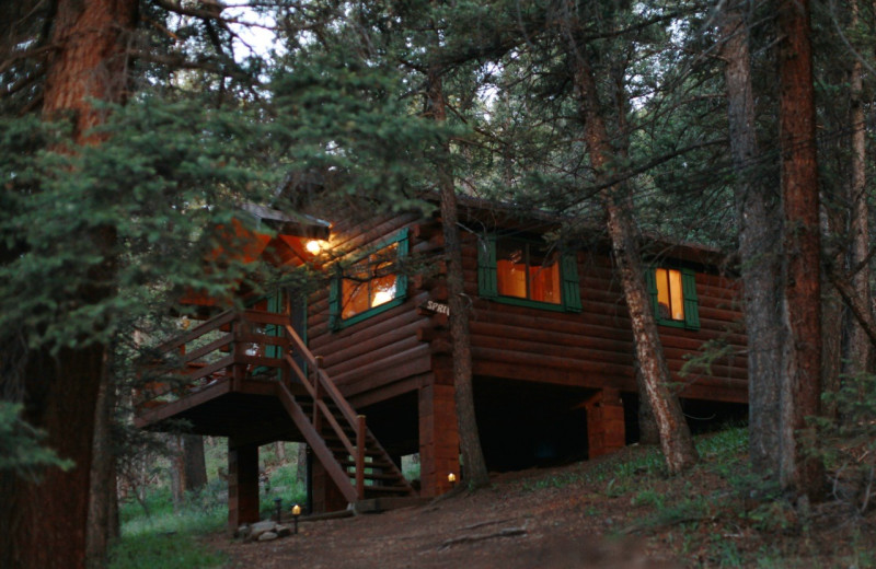 Cabin exterior at Elk Mountain Ranch.