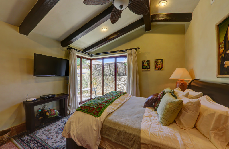 Guest bedroom at Casa Mar y Estrella.