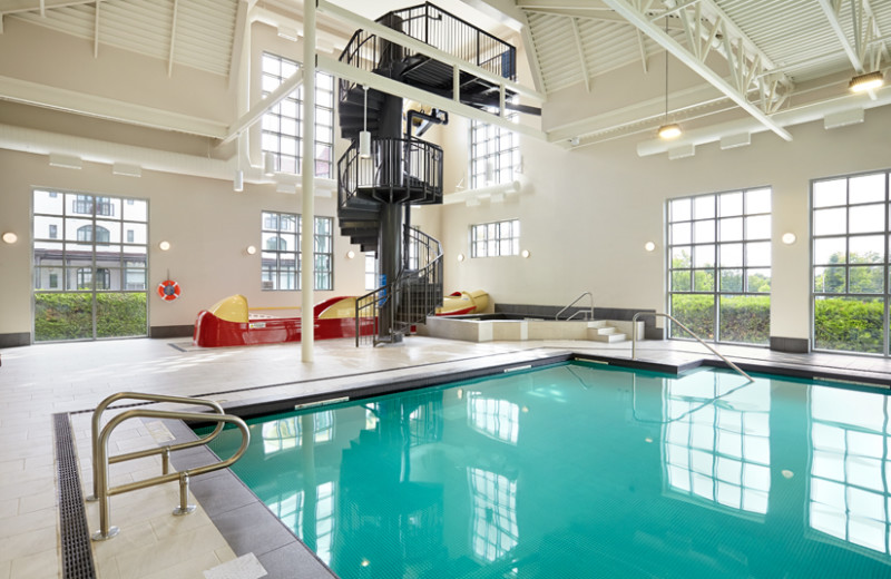 Indoor pool with slide at The Algonquin Resort St. Andrews by-the-Sea, Autograph Collection.