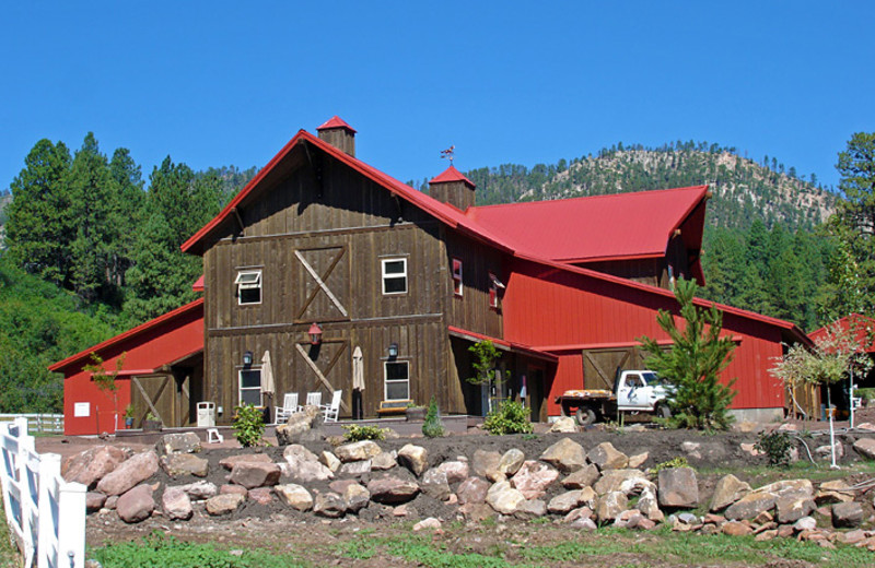 View of barn at Colorado Trails Ranch.