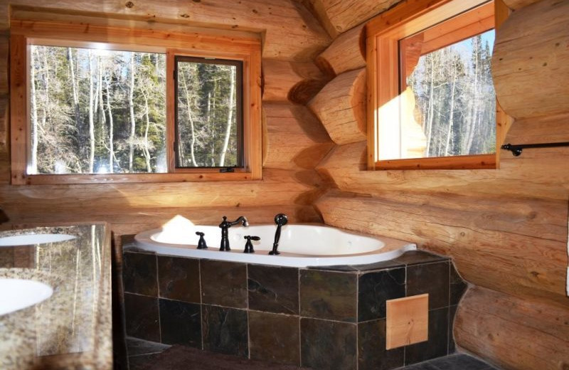 Master bathroom at Brian Head Vacation Rentals.