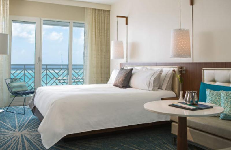 Guest room at Renaissance Aruba Resort & Casino.