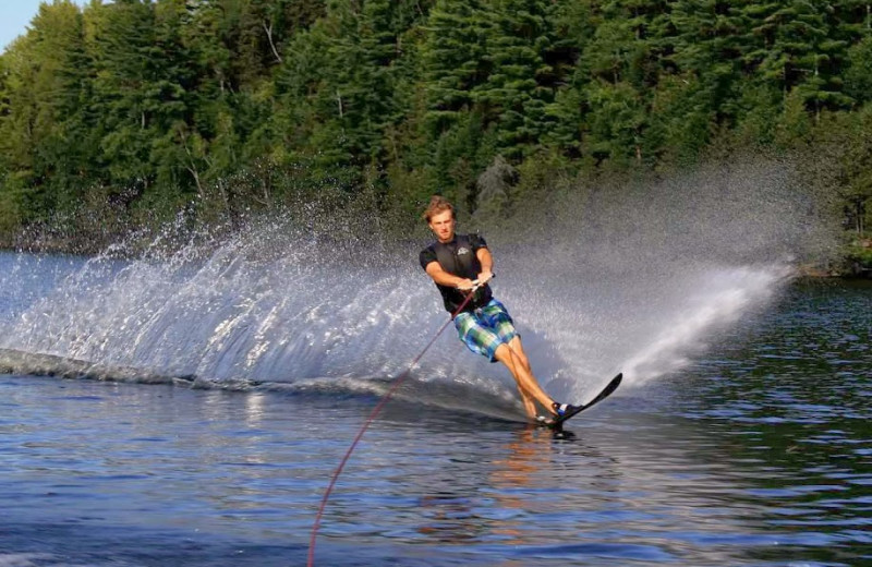 Waterskiing at Ogopogo Resort.