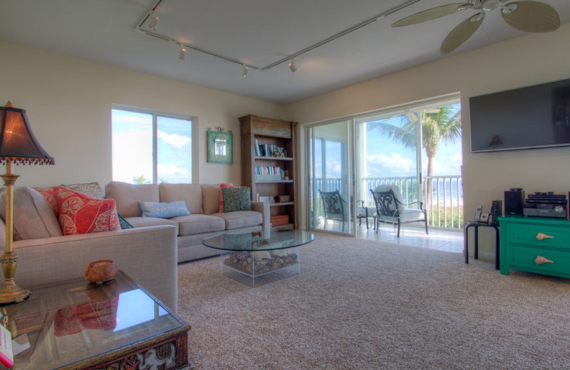 Rental living room at Sanibel Vacations.