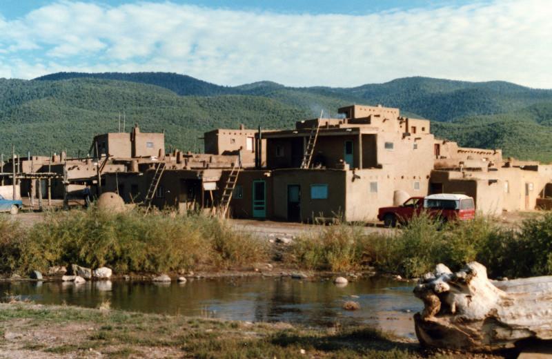 Historic Taos Pueblo near Palacio de Marquesa.