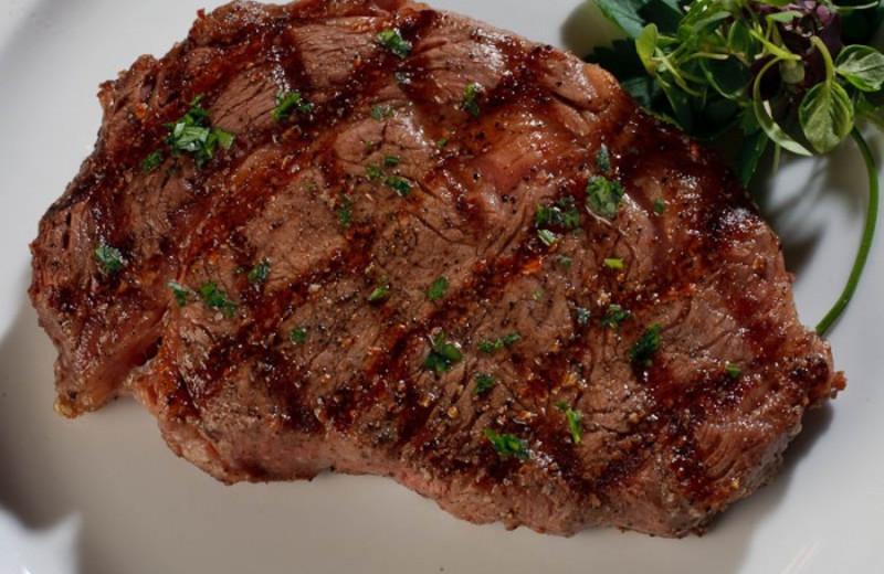 Steak at White Buffalo Club.