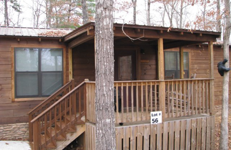 Cabin exterior at Copperhead Lodge.
