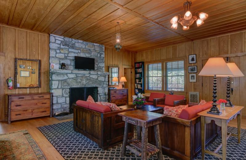 Guest living room at High Hampton Resort.