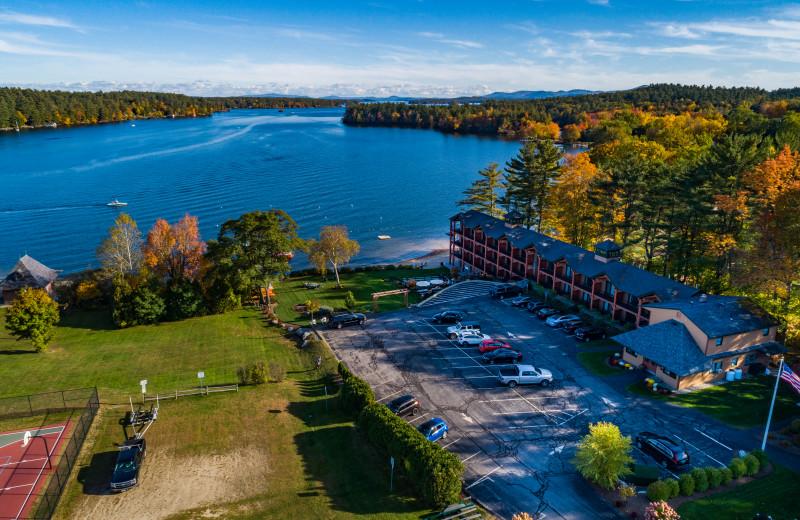 Autumn Aerial at the Center Harbor Inn.