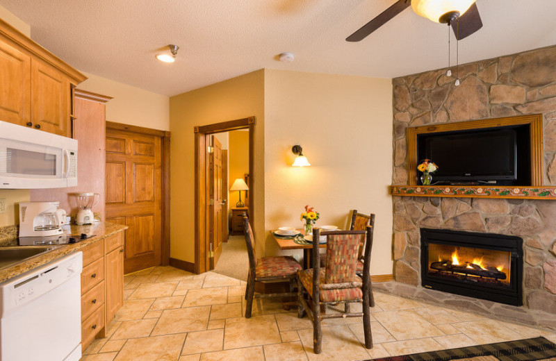 Guest room with fireplace at Westgate Smoky Mountain Resort & Spa.