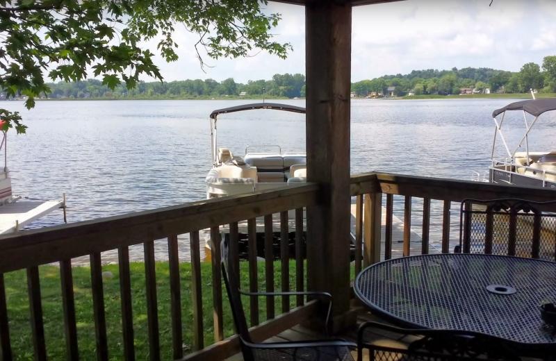 Cabin lake view at Evans Lake Resort.