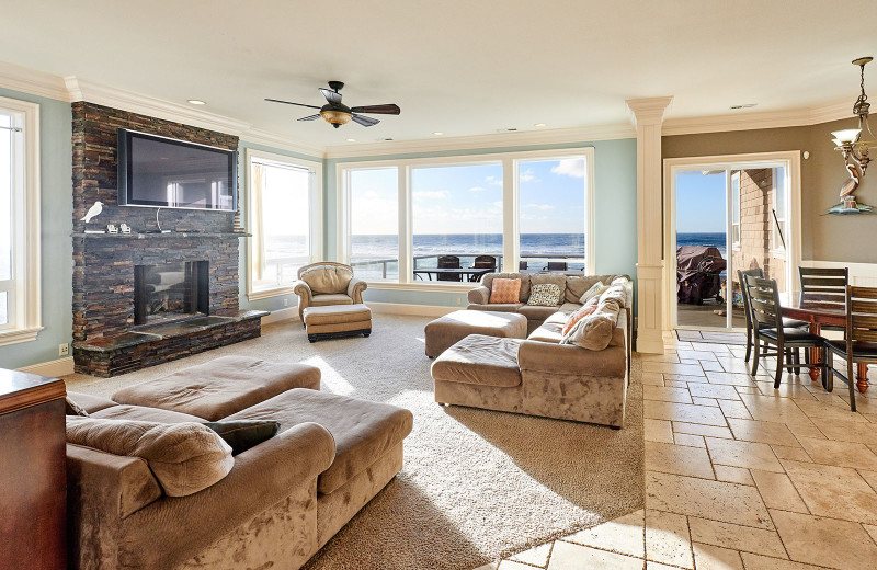 Living room at Admiral's Beach Retreat.