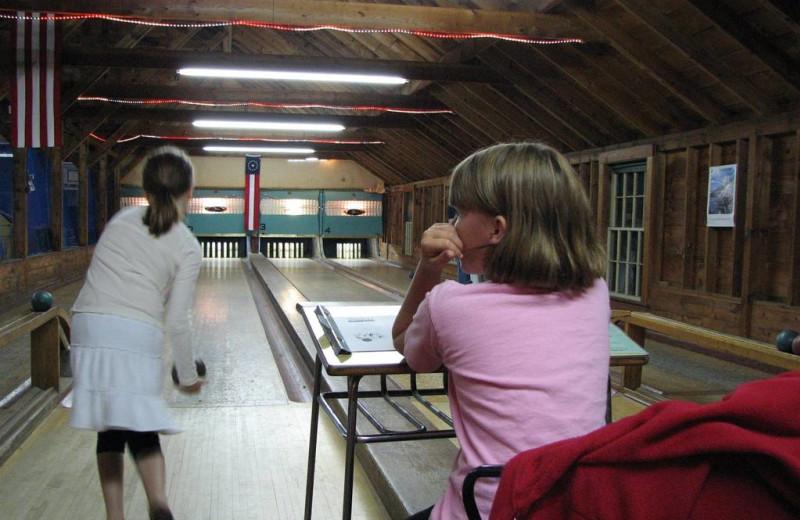Bowling at Sebasco Harbor Resort.