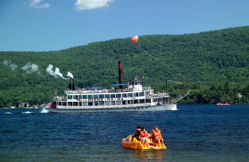 Lake activities at Marine Village Resort.