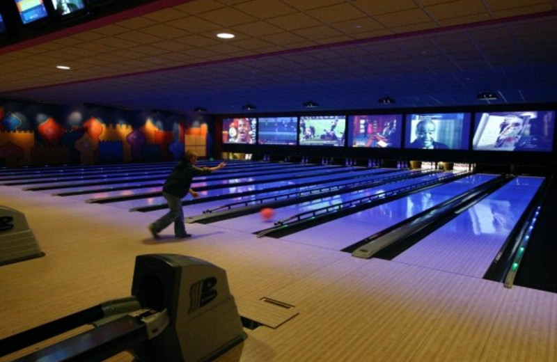 Bowling alley at Kalahari Waterpark Resort Convention Center.