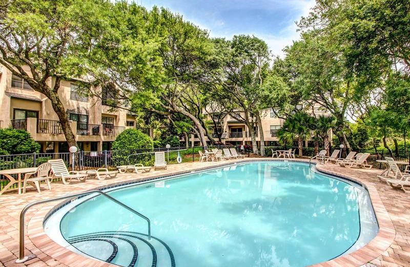 Rental pool at Beach Vacation Rentals.