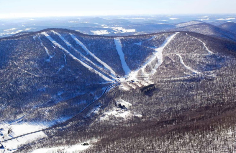 Skiing at Pattekill Mountain near The Mountain Brook.