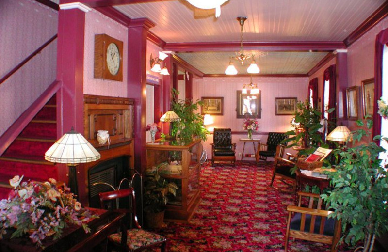 Lobby at Julian Gold Rush Hotel Bed and Breakfast.