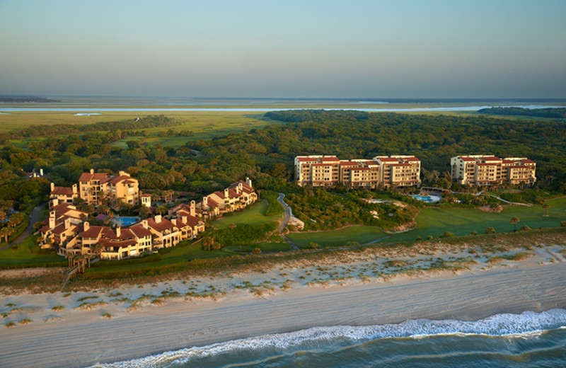 Aerial view of The Villas of Amelia Island Plantation.