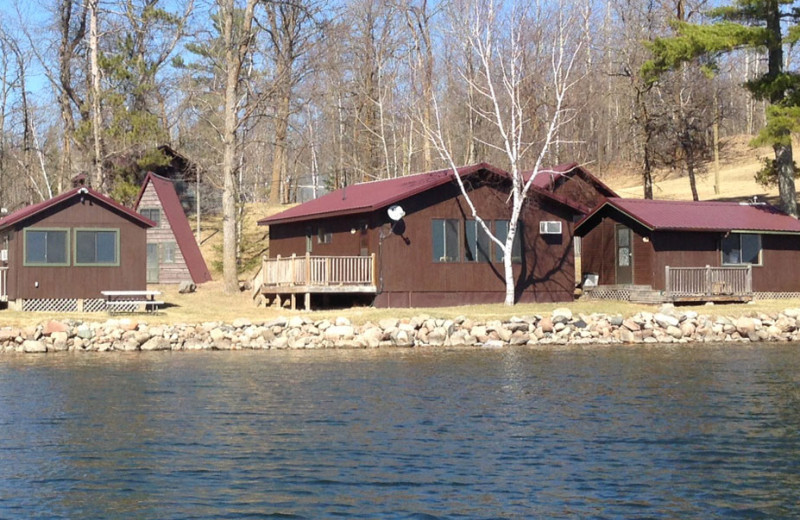 Cabin exterior at Whaley's Resort & Campground.