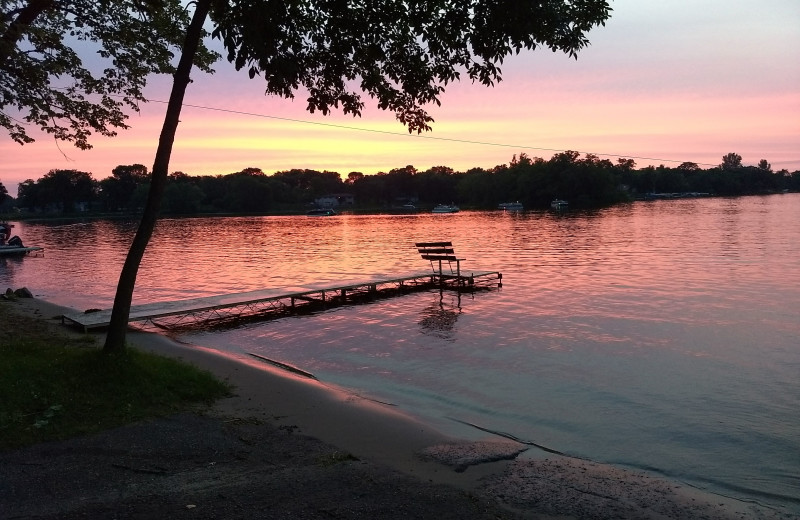 Sunset at Riverside Resort.