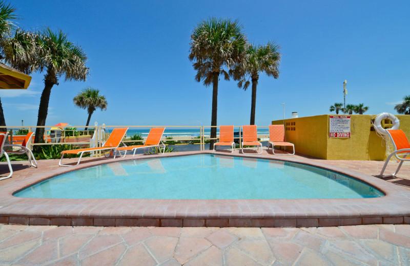Outdoor pool at Daytona Beach Shores Hotel.