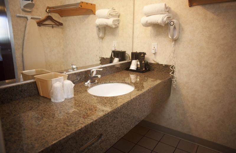 Guest bathroom at St. George Inn & Suites.