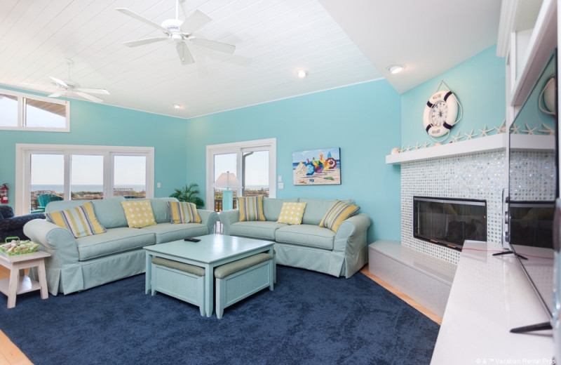 Rental living room at Vacation Rental Pros - St. Augustine.
