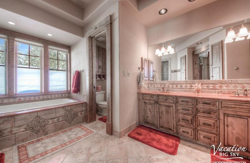 Rental bathroom at Big Sky Luxury Rentals.