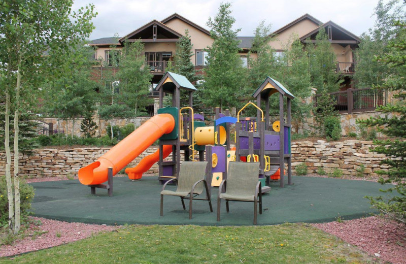 Kids playground at Grand Timber Lodge.