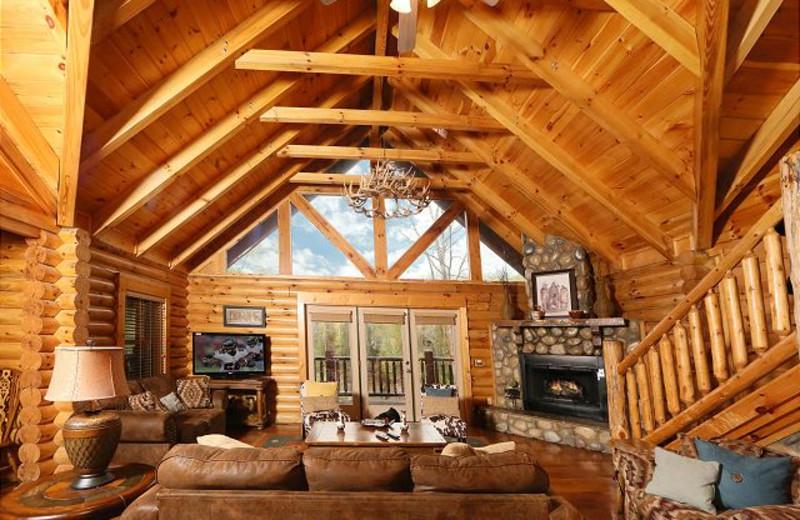 Living room at Eden Crest Vacation Rentals, Inc. - Black Bear Hideaway.