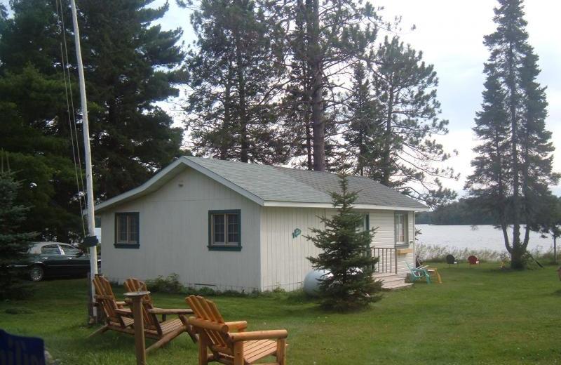 Cabin exterior at Back O'Beyond.
