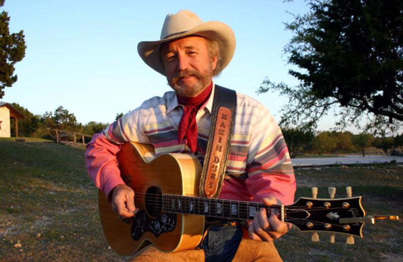 Musician at Rancho Cortez.