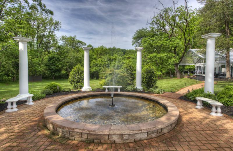 Fountain at Chestnut Hill Wedding & Reception Venue.