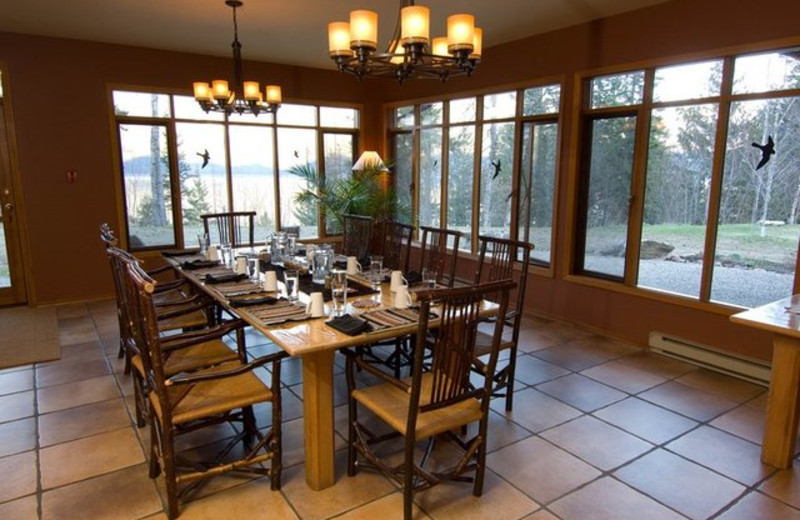 Dining room at Mountain Trek Fitness Retreat & Health Spa.