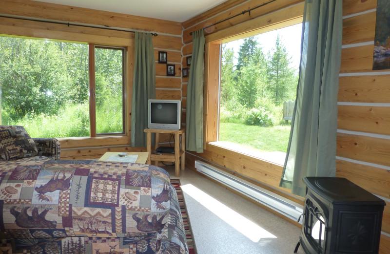 Cabin livingroom at Mica Mountain Lodge & Log Cabins.
