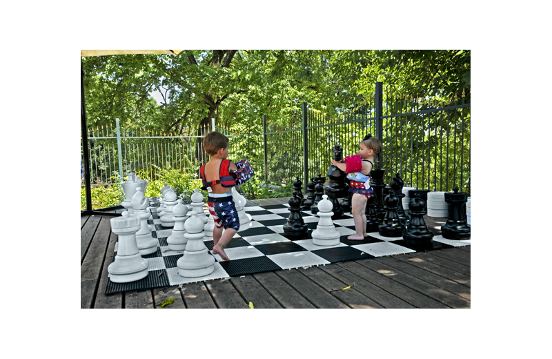 Giant chess at 1886 Crescent Hotel & Spa.