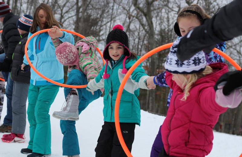 Winter games at Woodloch Resort.