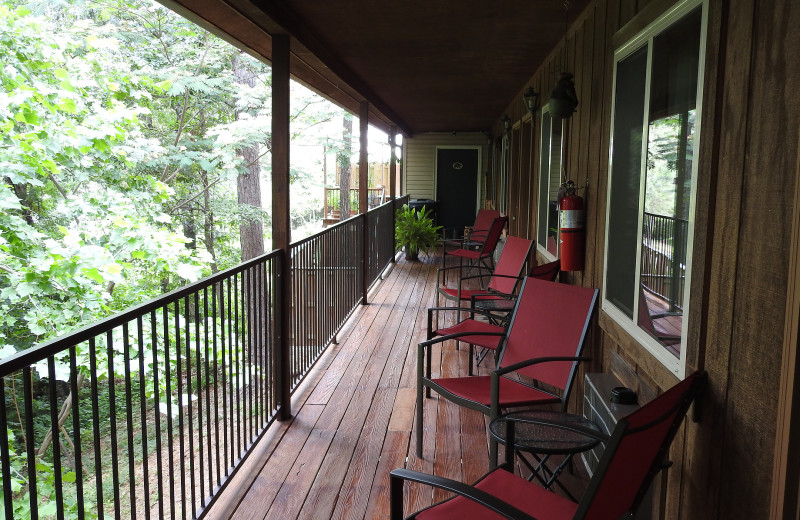 Balcony at The Lookout Lodge.