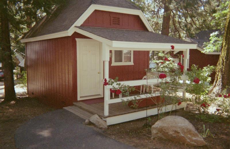 Cabin exterior at Long Barn Lodge.