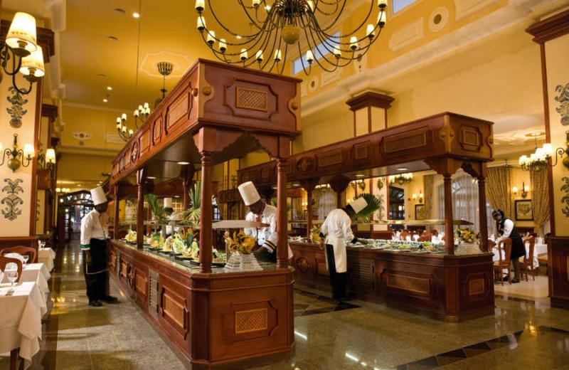 Dining at Hotel Riu Tropical Bay.