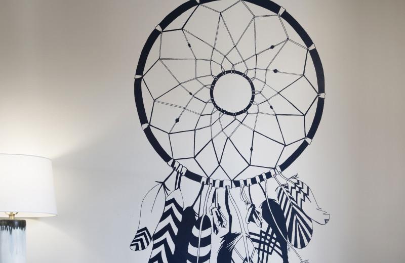 Wall art at Sky Rock Inn of Sedona.