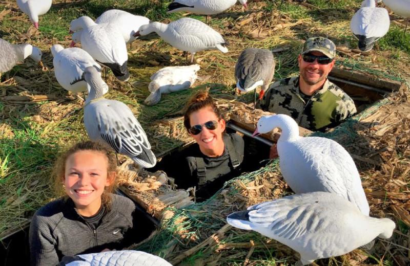 Duck hunting at Harpole's Heartland Lodge.
