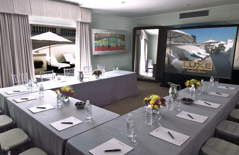 Conference room at Luxe Hotel Rodeo Drive.