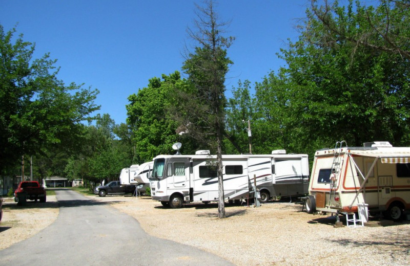 RV camping sites at 1Copper John's Resort.
