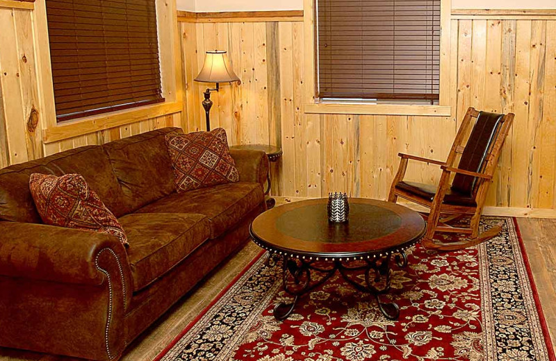 Guest living room at Quinn's Hot Springs Resort